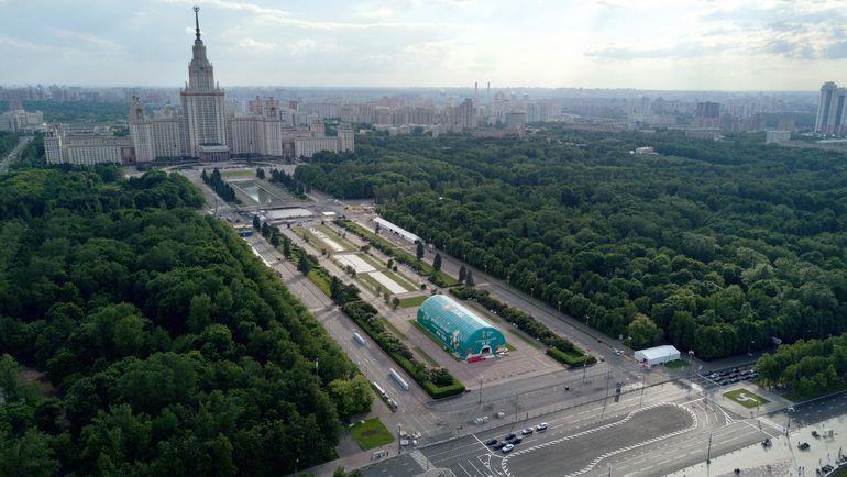 Москва. Фан-зона на Воробьевых горах. Фото AFP