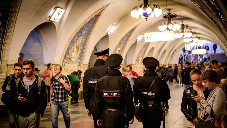 Полиция в московском метро. Фото AFP