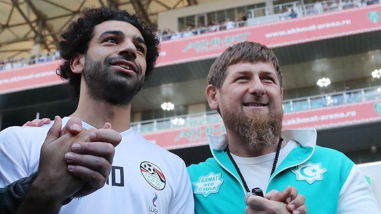 Воскресенье. Грозный. Мохамед САЛАХ и Рамзан КАДЫРОВ. Фото AFP