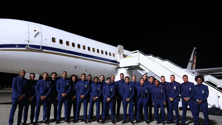 Сборная Бразилии прилетела в Сочи. Фото CBF