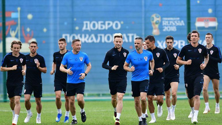 11 июня. Рощино. Тренировка сборной Хорватии. Фото AFP