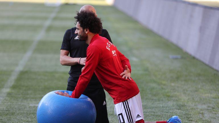 Вторник. Грозный. Мохамед САЛАХ на тренировке сборной Египта. Фото AFP