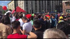 Футбольный карнавал в Москве.