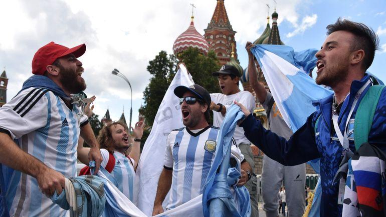 Болельщики сборной Аргентины в Москве. Фото AFP