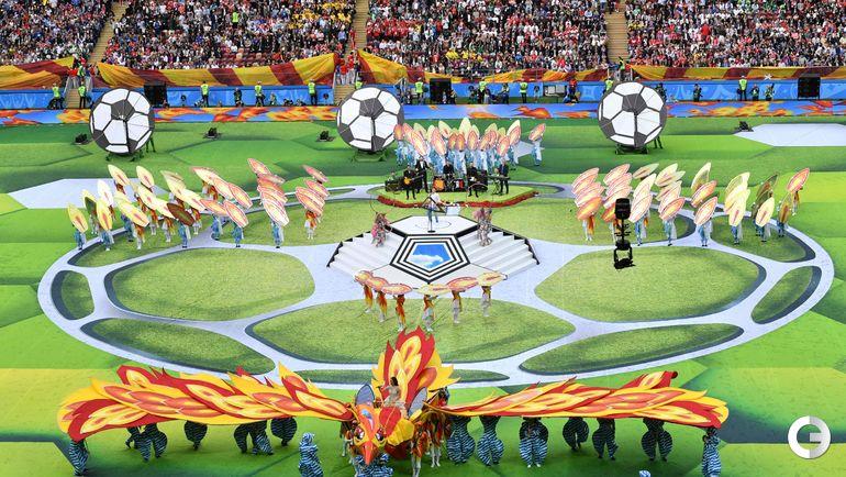 14 июня. Москва. Церемония открытия чеимпоната мира по футболу.