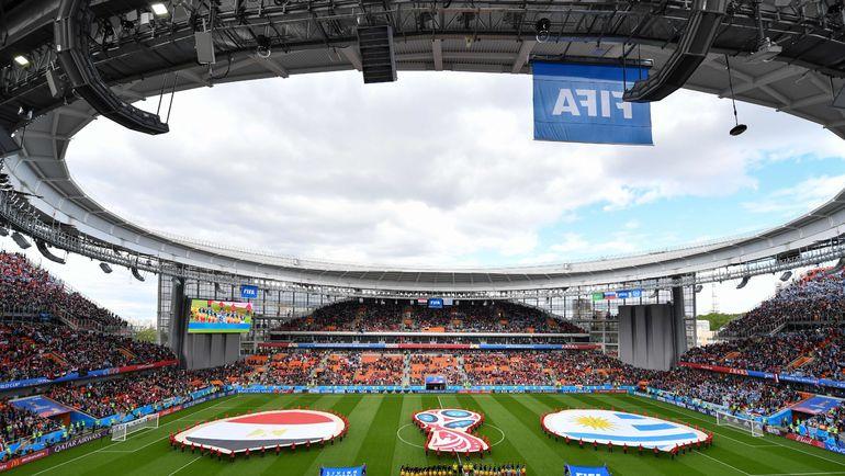 Пятница. Екатеринбург. Общий вид стадиона перед началом матча Египет - Уругвай. Фото AFP