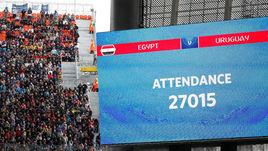 Пятница. Екатеринбург. Египет - Уругвай - 0:1. Матч соперников сборной России собрал меньше, чем ожидалось - и это удивительно.