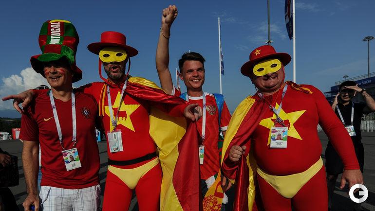 Пятница. Сочи. Перед матчем сборных Португалии и Испании.