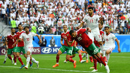 Пятница. Санкт-Петербург. Марокко – Иран – 0:1. 90+5-я минута. Марокканец Азиз БУАДДУЗ (№ 20) отправляет мяч в свои ворота.
