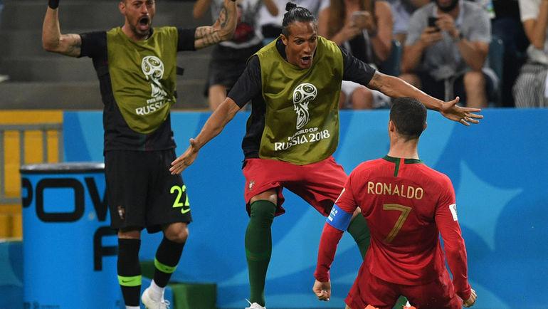 Пятница. Сочи. Португалия – Испания – 3:3. КРИШТИАНУ РОНАЛДУ (№ 7) – автор первого хет-трика на ЧМ-2018. Фото Дарья ИСАЕВА, «СЭ»