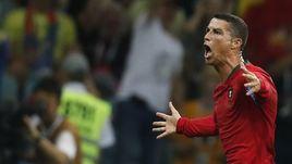Пятница. Сочи. Португалия – Испания – 3:3. 88-я минута. КРИШТИАНУ РОНАЛДУ празднует хет-трик.