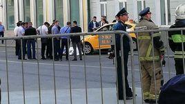 Авария в центре Москвы.