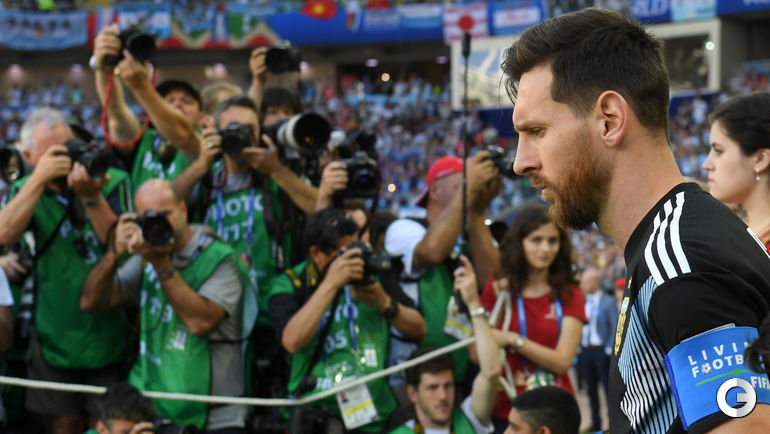 Суббота. Москва. Аргентина – Исландия – 1:1. Лионель МЕССИ в центре внимания фотографов.
