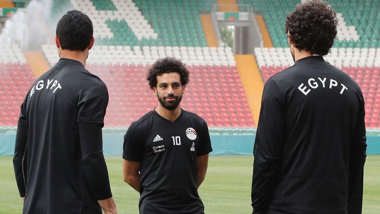 Сегодня. Грозный. Мохамед САЛАХ на тренировке сборной Египта. Фото AFP