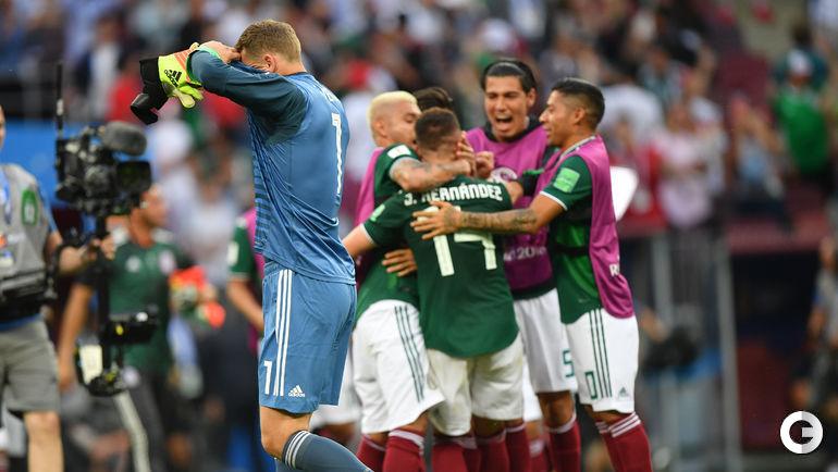 Воскресенье. Москва. Германия - Мексика - 0:1. Мануэль НОЙЕР в концовке пошел в атаку. Однако его команда осталась без набранных очков.