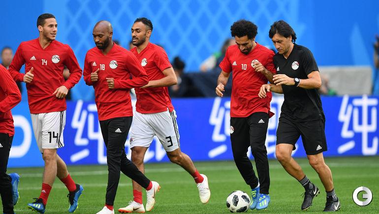 Понедельник. Санкт-Петербург. На тренировке сборной Египта Мохамеда САЛАХА толкают в травмированное левое плечо.
