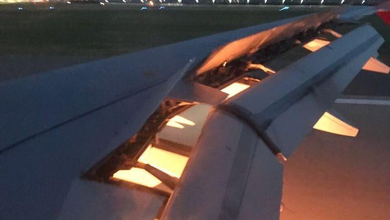Двигатель самолета сборной Саудовской Аравии загорелся во время полета. Фото twitter.com/AhmedMashaly24