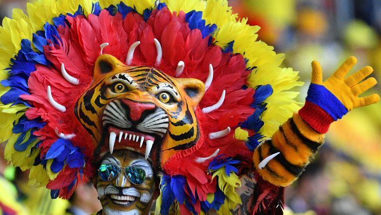 Болельщик сборной Колумбии. Фото AFP
