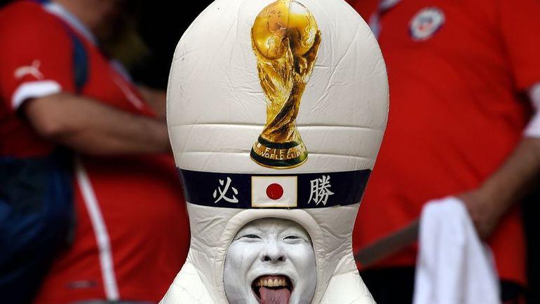 Болельщик сборной Японии. Фото AFP