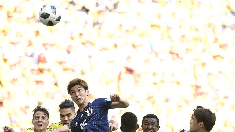 Вторник. Саранск. Колумбия - Япония - 1:2. 73-я минута. Гол Юя ОСАКО. Фото AFP
