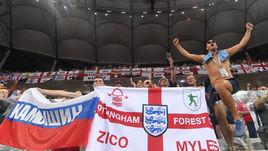 18 июня. Волгоград. Тунис - Англия - 1:2. Британские болельщики на игре.