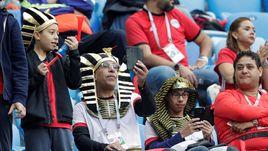 Болельщики сборной Египта.