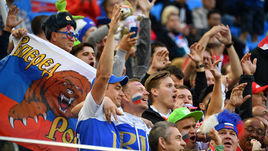 Вторник. Санкт-Петербург. Россия – Египет – 3:1. Болельщики сборной России.