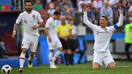 Среда. Москва. Португалия - Марокко - 1:0. КРИШТИАНУ РОНАЛДУ недоволен: одного гола ему мало.