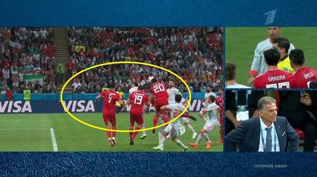 Почему отменен гол иранцев в ворота Испании?