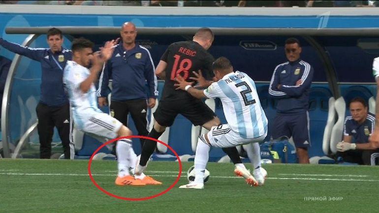 39-я минута матча Аргентина - Хорватия.