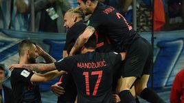 Четверг. Нижний Новгород. Аргентина – Хорватия – 0:3. 53-я минута. Радость хорватов после первого забитого мяча.