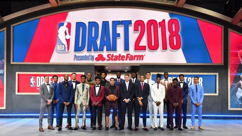 Участники первого раунда драфта НБА. Фото Твиттер НБА