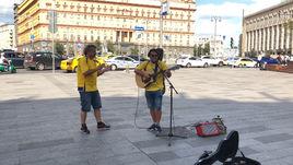 Шведские музыканты отжигают на Лубянской площади