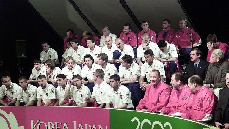 Сборная России-2002: перед чемпионатом мира - представление на Первом канале. Фото Дмитрий СОЛНЦЕВ