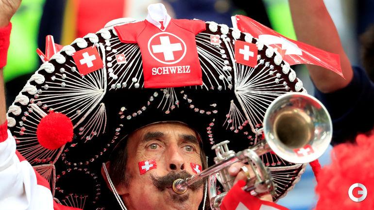 Болельщик сборной Швейцарии.