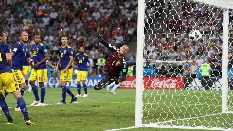 Суббота. Сочи. Германия - Швеция - 2:1. 90+5-я минута. Гол Тони Крооса (за кадром). Фото Reuters