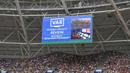 Использование системы ВАР на матче ЧМ-2018 Дания - Австралия (1:1).