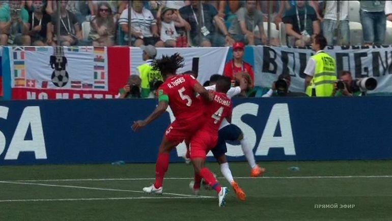 Англия - Панама. Фото Скриншот.