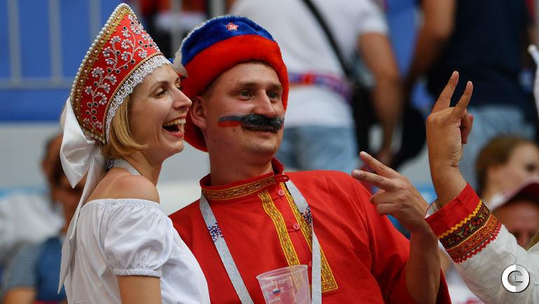 Сегодня. Самара. Перед матчем сборных России и Уругвая.
