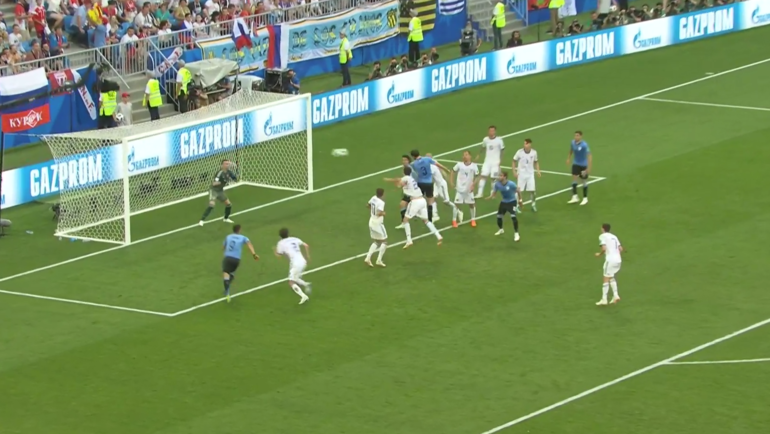 Уругвай - Россия: третий гол.