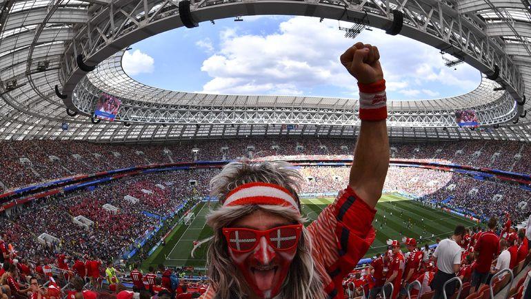 Колоритный болельщик сборной Дании. Фото AFP