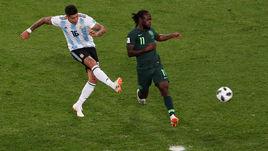 Вторник. Санкт-Петербург. Нигерия - Аргентина - 1:2. 86-я минута. Маркос РОХО (№ 16) забивает победный гол.