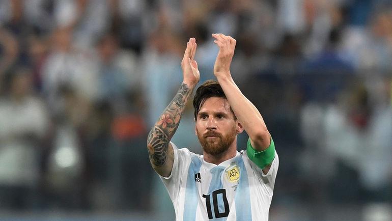 Вторник. Санкт-Петербург. Нигерия - Аргентина - 1:2. Лионель МЕССИ после матча. Фото AFP