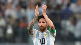Вторник. Санкт-Петербург. Нигерия - Аргентина - 1:2. Лионель МЕССИ после матча.