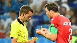 Среда. Нижний Новгород. Швейцария - Коста-Рика - 2:2. 37-я минута. Капитан сборной Швейцарии ШТЕФАН Лихтштайнер получает желтую карточку, из-за которой он пропустит встречу 1/8 финала.