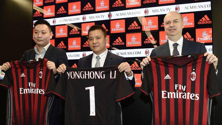 """С апреля 2017 года """"Миланом"""" владеет китайский консорциуму во главе с ЛИ ЮНХУНОМ. Фото AFP"""