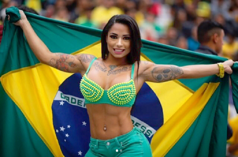 Сексуальные бразильские болельщицы