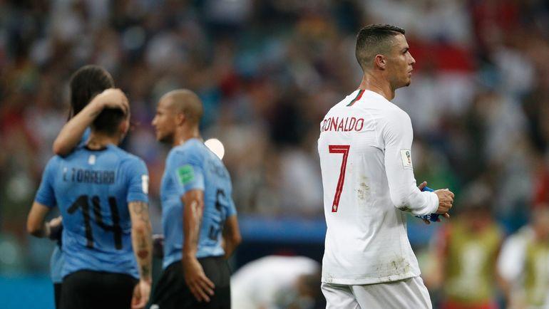 Суббота. Сочи. Уругвай - Португалия - 2:1. КРИШТИАНУ РОНАЛДУ и его сборная покидают ЧМ-2018. Фото AFP