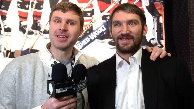 Илья БРЫЗГАЛОВ (слева) и Александр ОВЕЧКИН были среди гостей матча России с Испанией. Фото twitter.com
