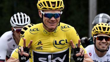 """23 июля 2017 года. Кристофер ФРУМ на одном из этапов """"Тур де Франс""""-2017. Фото AFP"""